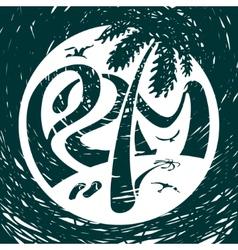 symbol lettering palm vector image