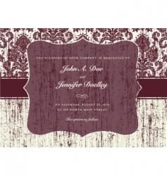 textured invitation vector image