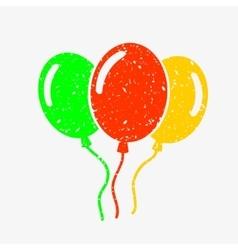 Three bright balloons vector