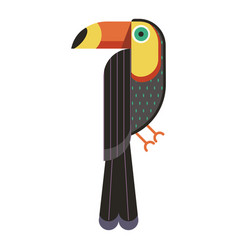 toucan bird geometric icon in flat design vector image