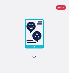 Two color qa icon from e-learning and education vector