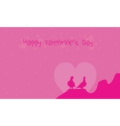 Valentine day backgrounds with bird vector image