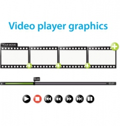 video player graphics vector image