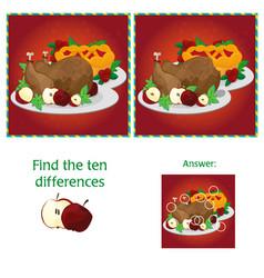 Visual game for children task - find 10 vector