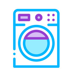 washing house machine sign thin line icon vector image