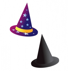 wizards witch hat vector image
