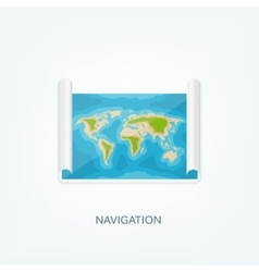 World map in a flat style Earth globe vector image