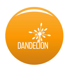Yellow dandelion logo icon orange vector