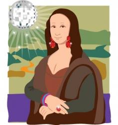 Mona Lisa disco lady vector image vector image