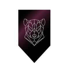 Tasmanian devil polygonal head sign vector