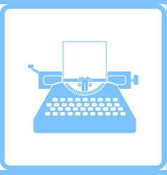 typewriter icon vector image vector image