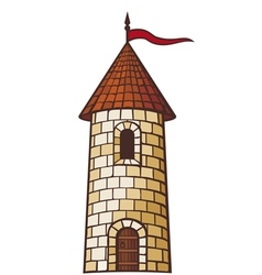 medieval tower vector image vector image