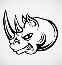Rhinos Head Tribal vector image vector image