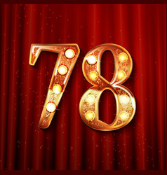 78 years anniversary celebration design vector