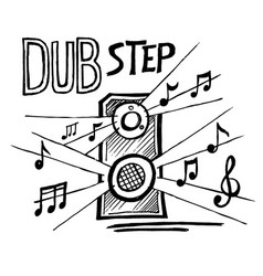 dubstep music style vector image
