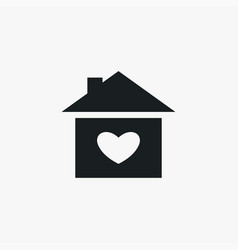 heart in house icon simple love valentine sign vector image