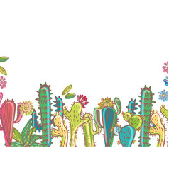 mexico cactus collection vector image vector image