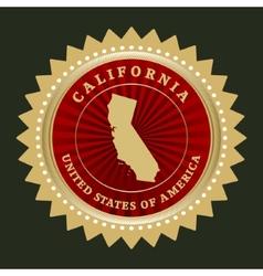 Star label California vector image vector image
