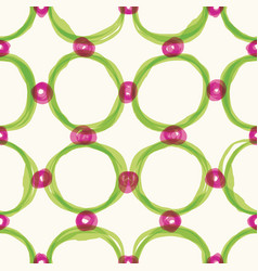 watercolor sloppy circles seamless pattern vector image vector image
