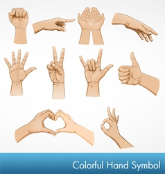 hand symbol collection vector image