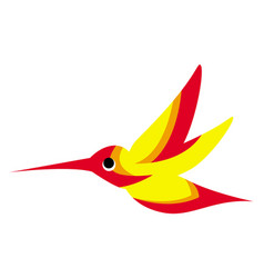 A flying colorful hummingbird or colibri vector
