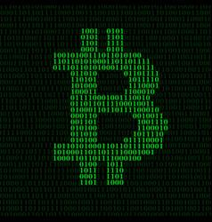 Abstract sign bitcoin of binary code vector