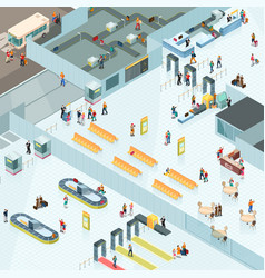Airport zones isometric design vector