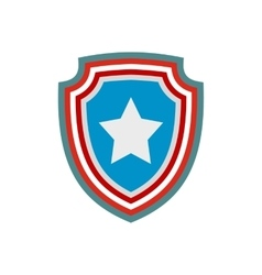 American badge icon vector image