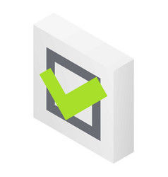 Approved sign icon isometric style vector