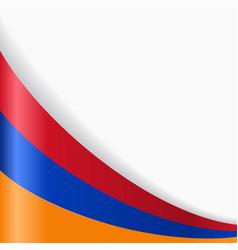 Armenian flag background vector