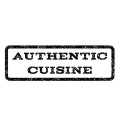 Authentic cuisine watermark stamp vector