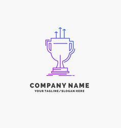 award competitive cup edge prize purple business vector image