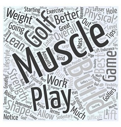 Best Exercise Tips for Golfers Word Cloud Concept vector