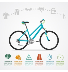 bike riding infographic vector image