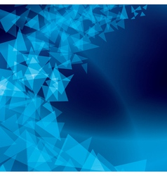 blue abstract background with scattered shapes vector image