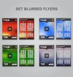 Blur flyer SET vector image