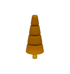 brown tree in plastic design vector image