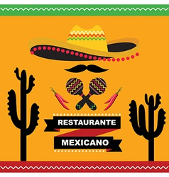 Cafe cover for menu mexican template design vector
