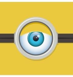 Cartoon one eye glasses or goggles eye vector