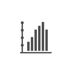 column chart icon and infographic concept vector image