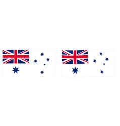 commonwealth of australia naval flag variant vector image