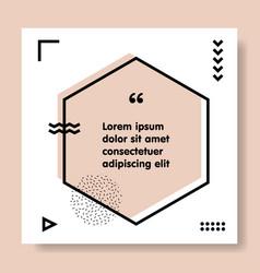 congrats speech bubble banner geometric memphis vector image