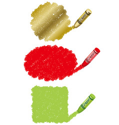 Crayon daub background vector