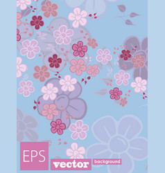 decorative floral background with flowers peony vector image