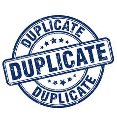Duplicate blue grunge round vintage rubber stamp vector