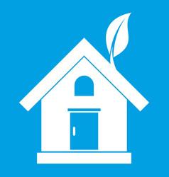 eco house concept icon white vector image