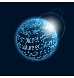 Eco planet icon vector