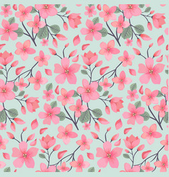 elegance floral summer or spring pattern template vector image