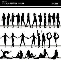 Female figures vector