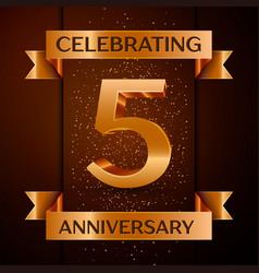 Five years anniversary celebration design banner vector